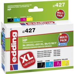 Kompatibilná sada náplní do tlačiarne Edding edding 427 EDD-427, čierna, zelenomodrá, purpurová, žltá