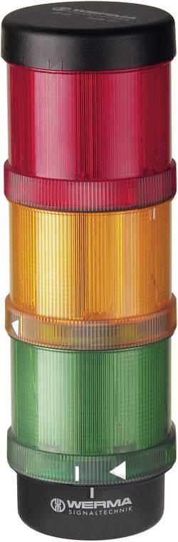 Signální sloupek Werma Signaltechnik KS72 Classic, LED trvalé světlo, blikající světlo, červená, žlutá, zelená, 24 V/AC, 24 V/DC