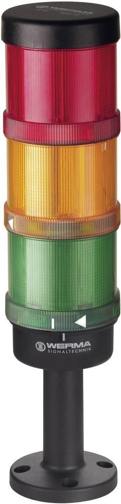 Signální sloupek Werma Signaltechnik 64900002, LED trvalé světlo, blikající světlo, červená, žlutá, zelená, 24 V/AC, 24 V/DC