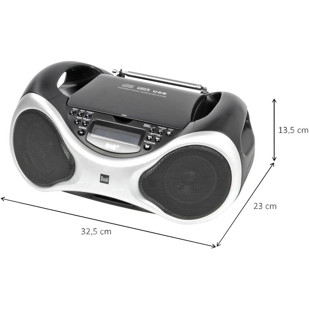 dab radio cd dual dab p 101 aux cd dab fm usb black. Black Bedroom Furniture Sets. Home Design Ideas