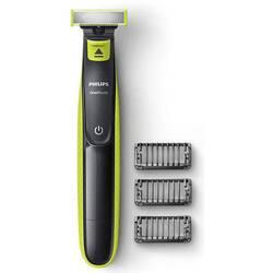 Holiaci strojček na tvár, zastrihávač fúzov Philips OneBlade QP2520/20 EU, omývateľný, svetlozelená, tmavosivá
