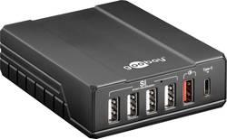 USB nabíječka Goobay 71808, 10000 mA, 6 x USB 2.0 zásuvka A, USB-C™ zásuvka, černá