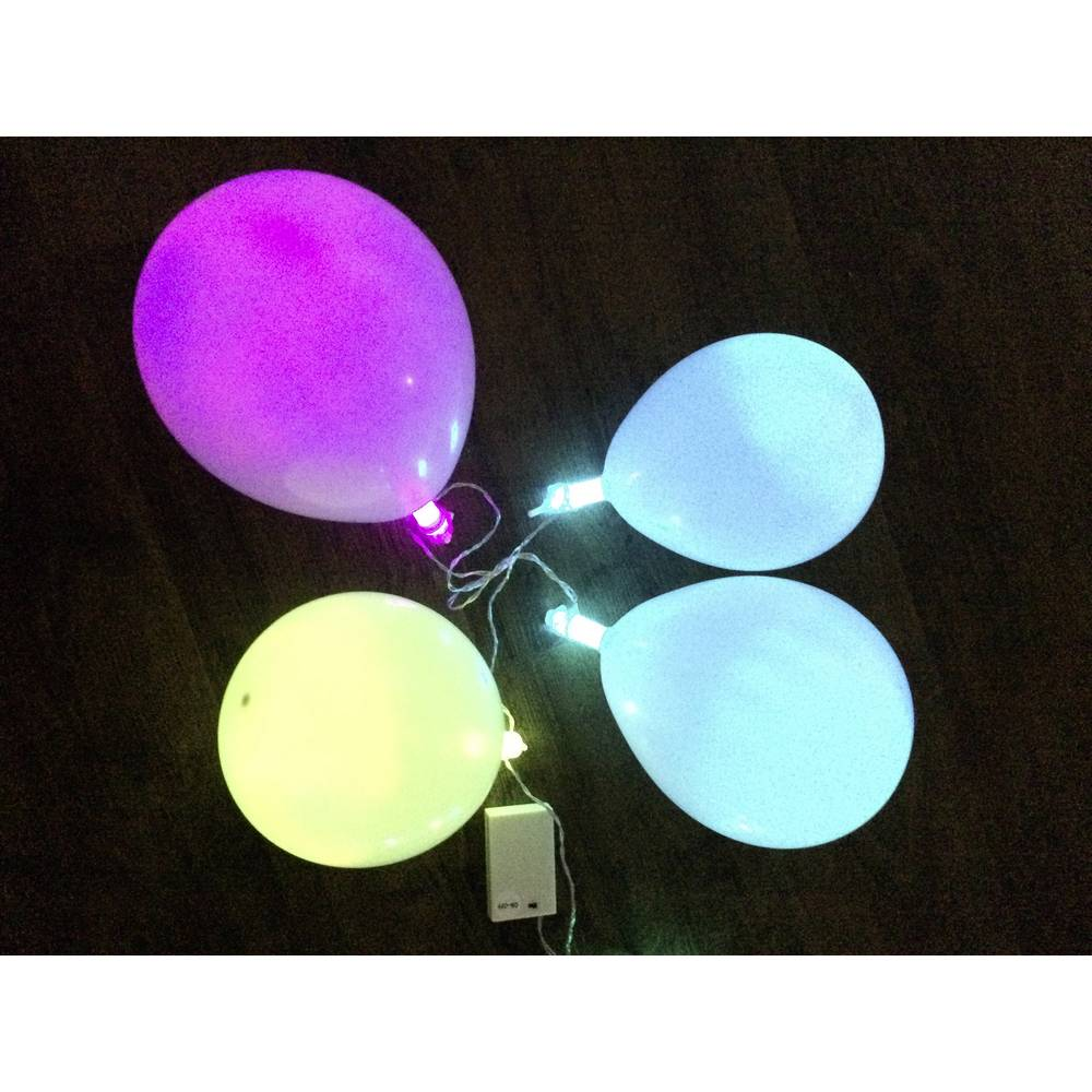 led party lichterkette 10 ballons w multi color. Black Bedroom Furniture Sets. Home Design Ideas