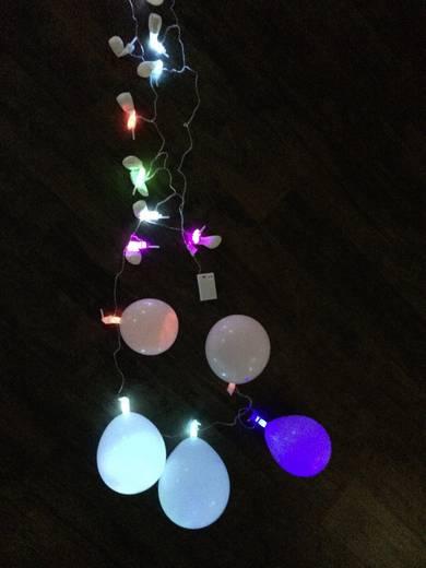led party lichterkette blinkend 20 ballons w multi color anzahl leuchtmittel 20. Black Bedroom Furniture Sets. Home Design Ideas