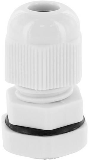 Kabelverschraubung mit Gegenmutter PG13,5 Kunststoff grau 25 Stück