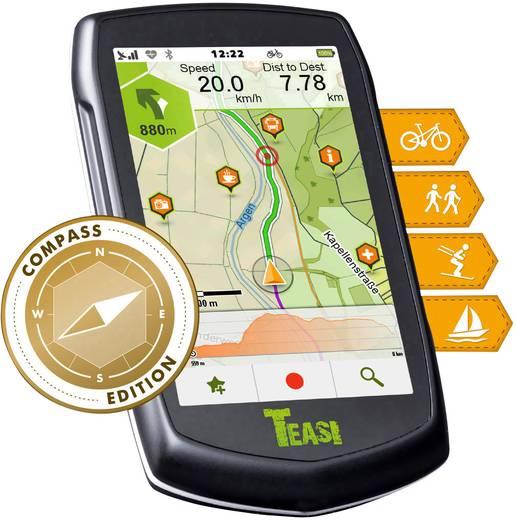 Teasi One³ eXtend Outdoor Navi Boot, Fahrrad, Ski, Wandern, Geocaching Europa Bluetooth®, GPS, spritzwassergeschützt
