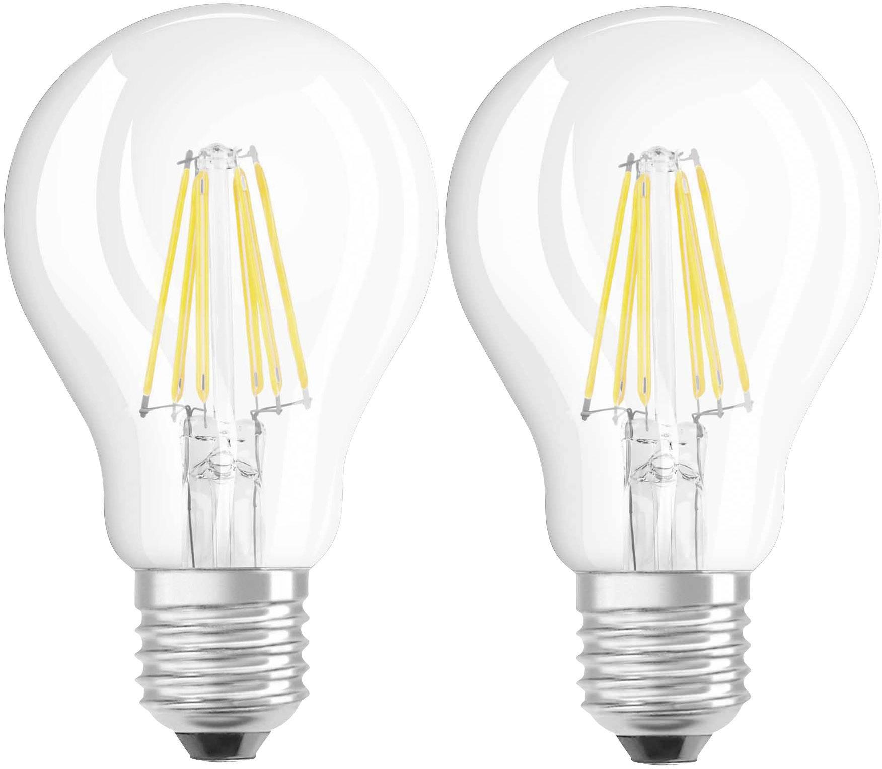 OSRAM LED E27 Glühlampenform 7 W U003d 60 W Warmweiß (Ø X L) 60