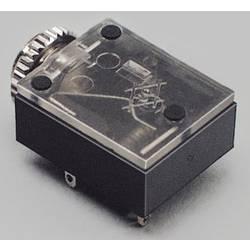 Jack konektor 3.5 mm stereo zásuvka, vstavateľná horizontálna TRU COMPONENTS 3, čierna, 100 ks