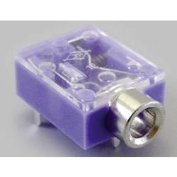Jack konektor 3.5 mm stereo zásuvka, vstavateľná horizontálna TRU COMPONENTS 3, fialová, 100 ks