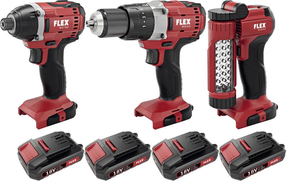 Flex DD 2G 18.0 + ID 1/4 18.0 Twin Cordless drill ...