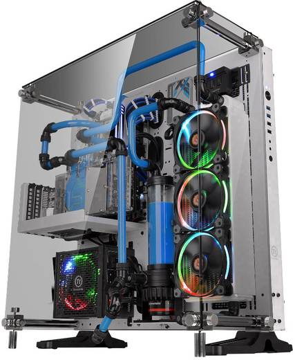 midi tower pc geh use thermaltake core p5 tg snow edition. Black Bedroom Furniture Sets. Home Design Ideas