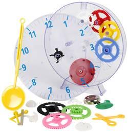 Detské nástenné hodiny - náučná stavebnica Techno Line Model kids clock, Ø 20 cm, priehľadná