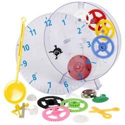 Detské nástenné hodiny - náučná stavebnica Techno Line Model kids clock, Vonkajší Ø 20 cm, priehľadná