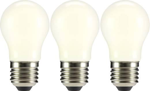 LED E27 Tropfenform 2 W = 23 W Warmweiß (Ø x L) 45 mm x 84 mm EEK: A++ Sygonix Filament 3 St.