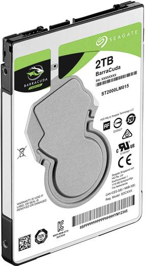 Interne Festplatte 6.35 cm (2.5 Zoll) 2 TB Seagate BarraCuda ST2000LM015 SATA III