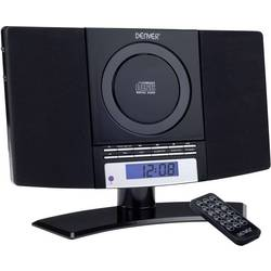 Image of Denver MC-5220 Stereoanlage AUX, CD, UKW, Wandmontage Schwarz