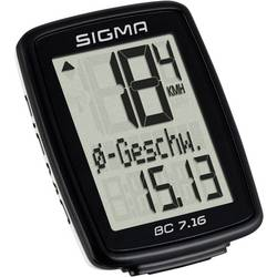 Cyklocomputer Sigma BC 7.16, káblový prenos, so senzorom kolesá
