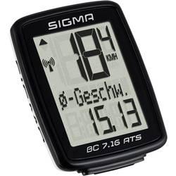Bezkáblový cyklocomputer Sigma BC 7.16 ATS, kódovaný prenos, so senzorom kolesá