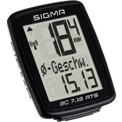 Bezkáblový cyklocomputer Sigma BC 7.16 ATS, kódovaný prenos