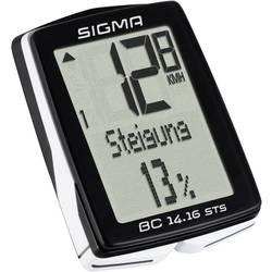 Bezkáblový cyklocomputer Sigma BC 14.16 ALTI STS CAD, kódovaný prenos
