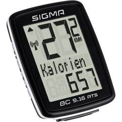 Bezkáblový cyklocomputer Sigma BC 9.16 ATS, kódovaný prenos, so senzorom kolesá