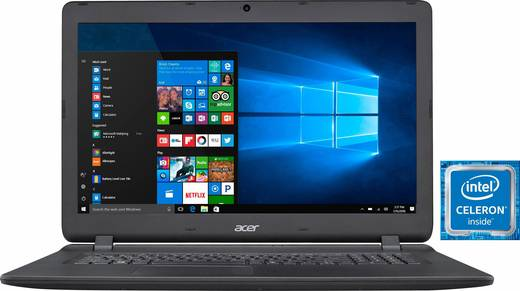 acer aspire es1 732 c9d4 43 9 cm 17 3 zoll notebook intel celeron 4 gb 500 gb hdd intel hd. Black Bedroom Furniture Sets. Home Design Ideas