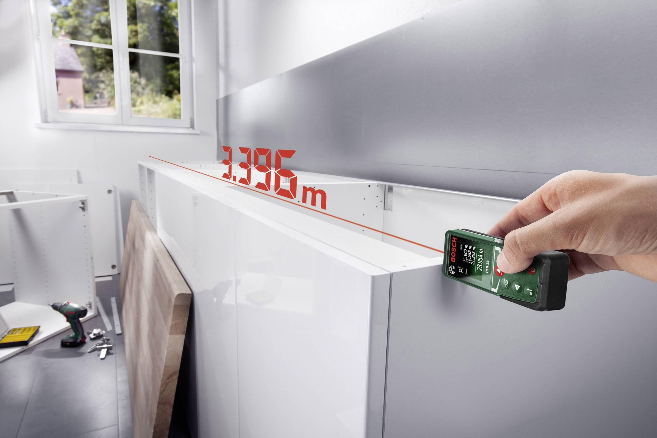 Entfernungsmesser Mit Rad : Bosch home and garden plr laser entfernungsmesser messbereich