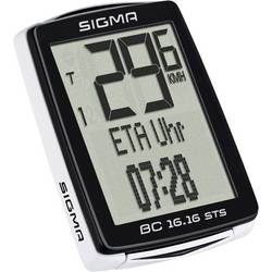 Bezkáblový cyklocomputer Sigma BC 16.16 STS, kódovaný prenos, so senzorom kolesá