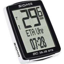 Bezkáblový cyklocomputer Sigma BC 16.16 STS CAD, kódovaný prenos, so senzorom kolesá, so senzorom šliapania