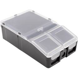 Krabička na malé součástky 1527224, přihrádek: 2, 100 x 60 x 30 , černá
