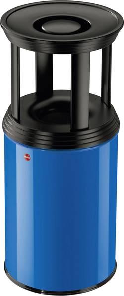 Odpadkový koš s popelníkem Hailo ProfiLine Combi plus L, 740 mm, Ø 330 mm, 30 l, hořcově modrá, černá