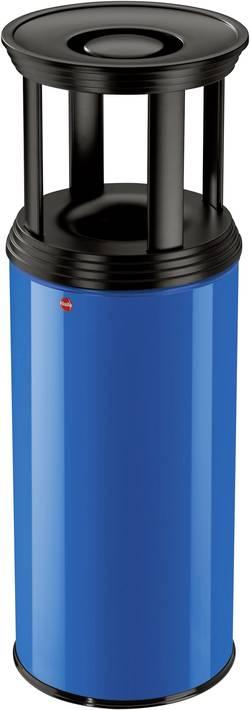 Odpadkový koš s popelníkem Hailo ProfiLine Combi plus XL, 50 l, hořcově modrá, černá