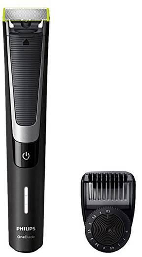 Philips One Blade QP6510/20 Bartschneider abwaschbar Schwarz, Silber