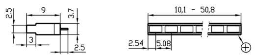 LED-Reihe 8fach Gelb (L x B x H) 40.8 x 3.7 x 9 mm Signal Construct ZALS 081