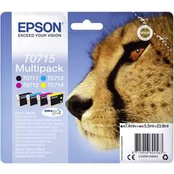 Epson Ink T0715 originál černá, azurová, purppurová, žlutá C13T07154012