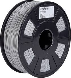 Vlákno pro 3D tiskárny Renkforce 01.04.12.1117, ABS plast, 1.75 mm, 1 kg, stříbrná