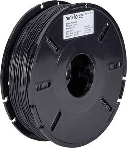 Vlákno pro 3D tiskárny Renkforce 01.04.13.5103, elastické, 1.75 mm, 500 g, černá