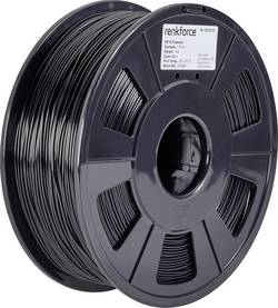 Vlákno pro 3D tiskárny Renkforce 01.04.18.1103, PETG plast, 1.75 mm, 1 kg, černá