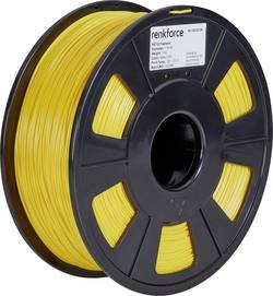 Vlákno pro 3D tiskárny Renkforce 01.04.18.1112, PETG plast, 1.75 mm, 1 kg, žlutá