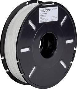Vlákno pro 3D tiskárny Renkforce 01.04.04.5102, flexibilní, 1.75 mm, 500 g, bílá