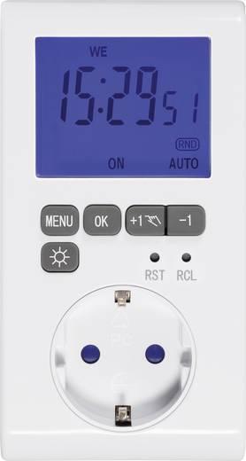 sygonix steckdosen zeitschaltuhr digital wochenprogramm 3680 w ip20 countdown funktion timer. Black Bedroom Furniture Sets. Home Design Ideas