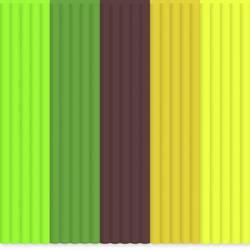 Image of 3Doodler AB-MIX6 Filament-Paket ABS 3 mm Neongrün, Dunkelgrün, Braun, Orange, Neongelb 55 g
