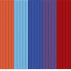 Sada vláken pro 3D tiskárny 3Doodler AB-MIX7, ABS plast, 55 g, oranžová, modrá, nachová, červená