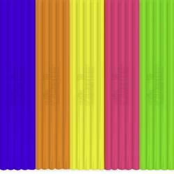 Sada vláken pro 3D tiskové pera 3Doodler FLX-MIX3, 55 g, bílá, modrá, červená, oranžová