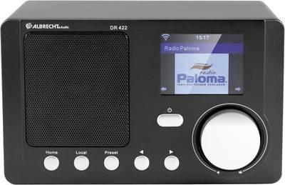 Albrecht DR 422 Internet Tischradio AUX, DLNA, Internetradio, WLAN DLNA-fähig Schwarz