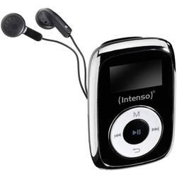 MP3 prehrávač Intenso Music Mover, 8 GB, upevňovací klip, čierna