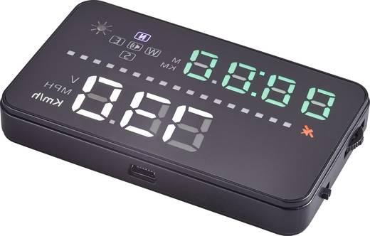 Sichtfeldanzeige/Headup-Display Basetech A3 GPS 91 mm x 12 mm x 53 mm mit Uhr, mit GPS-Empfang, Geschwindigkeitswarnung