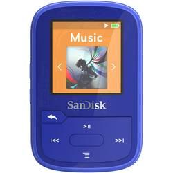 MP3 prehrávač SanDisk 16 GB, upevňovací klip, Bluetooth®, vodotesný, modrá