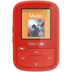 MP3 prehrávač SanDisk 16 GB, upevňovací klip, Bluetooth®, vodotesný, červená