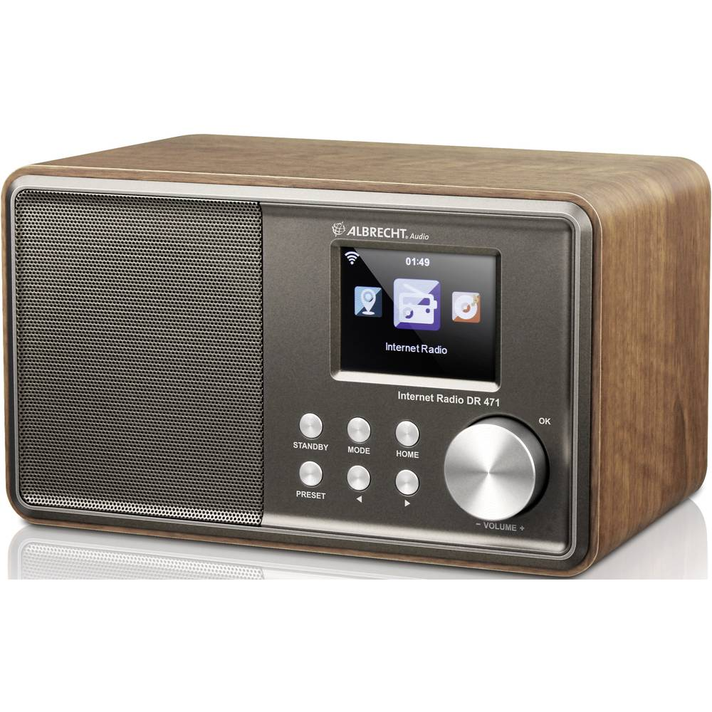 radio de bureau albrecht dr 471 audio st r o jack 3 5 mm compatible dlna bois. Black Bedroom Furniture Sets. Home Design Ideas